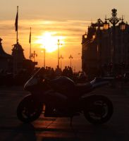 Bike at dusk by Lord-Ilpolazzo