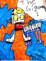 old drawing of Robot Jones by freddyvsjasonvsme