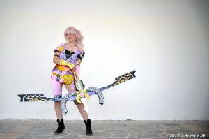 Serah DLC costume and Azrael Bow/Blade by NelielTheArrancar