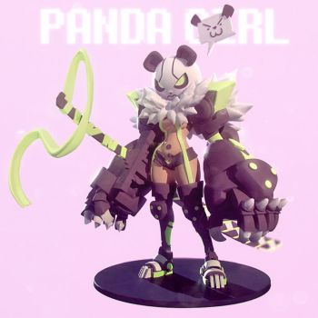 Panda Girl fanart by iononemillion