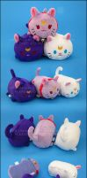 Stacking Plush: Small Luna, Artemis and Diana by Serenity-Sama