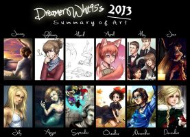 2013 Art Summary by Dreamerwhit95