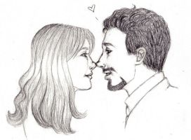 Tony + Pepper by ivoiredepoison