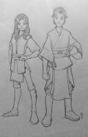 Master and Aprentice: Andur and Gabrielle by JediKnight97