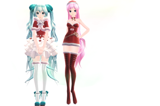 [MMD]tda miku and luka christmas model dl by ririchiro