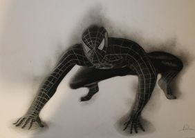 shadow of spiderman graphite by aymeric2107