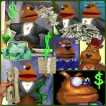 ( Spyro ) Moneybags with Money Collage by KrazyKari