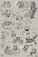 Doodles for fun (March) by TeaDino