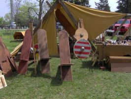 Viking Tent and Furniture by Shara-Moonglow