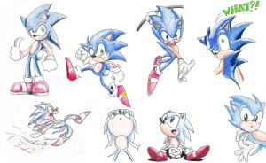 Sonic Doodles by AmaterasuOmikami