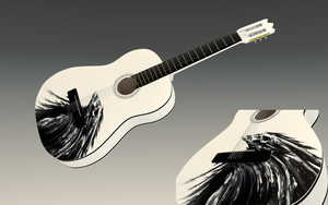 My guitar with Bird Reaper by betasector