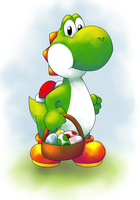 Yoshi's Easter Basket by Goldencloud