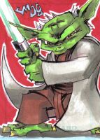 PERSONAL SKETCH CARD Yoda by jasinmartin