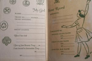 Girl Scout vintage book image by paintresseye