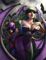Morrigan and Lilith by CanisPanthera