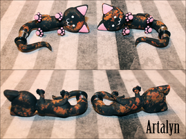 2g Tortie Ear Kitty Plugs by Artalyn