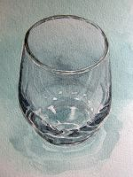 Glass in watercolour by Mad-Margaret