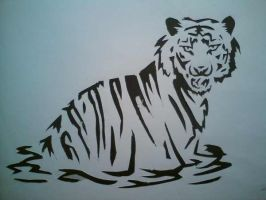 Tiger tatoo design by Elise-Lucy