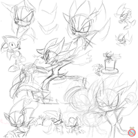 Sonic and Shadow doodles by shadowhatesomochao