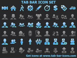 Tab Bar Icon Set by shockvideoee