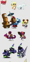 Maximini 3: Chara and drago design by sephyka