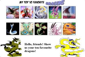 Top 10 Favorite Dragons Meme by Camilia-Chan