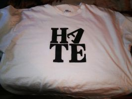 Hate Stencil Shirt by AlexisFobe