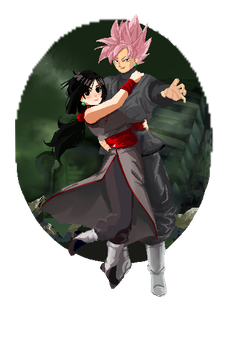 cm: goku and chichi Black by xSabah