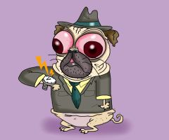 Brunito the Working  pug by Makinita