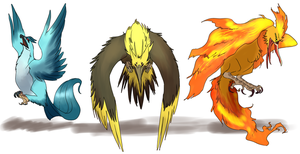 Legendary Bird Demons by umbbe