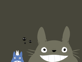 Totoro Desktop Wallpaper by foxmints