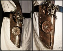 Dark Brown Side Holster by Adhras