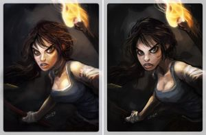 Lara before and After Render by shoze