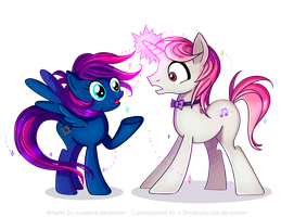 Shadow x Cavatina (Commission for x-ShadowScope) by yuukipink