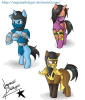 Ninja Ponies for Kombat by NayaaseBeleguii
