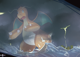 [Commission] In A Storm by GamefreakDX