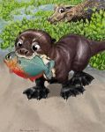 Proud Little Sancho with his first fish by Psithyrus