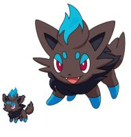 Pokemon 5G Shiny Zorua by etherspear