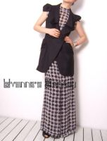 Black White Checked Jumpsuit12 by yystudio
