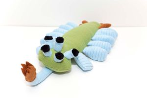 Opabinia in Green and Light Blue by Paleogirl