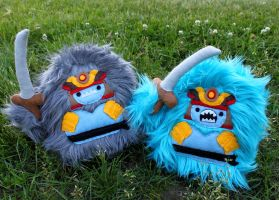 Two Samurai Yetis by loveandasandwich