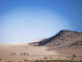 Road to a Nubian Town by LLuneh