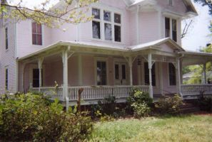 Pink Victorian House 1 by HauntingVisionsStock