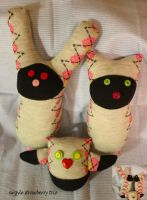 argyle strawberry sockster trio by Mab-overthrown