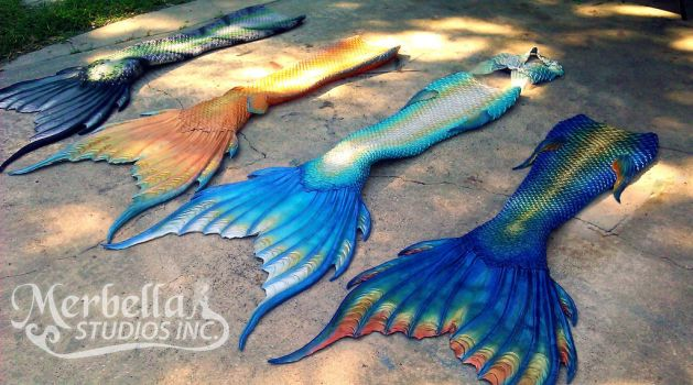 Custom Made Functioning Silicone Mermaid Tails by MerBellas