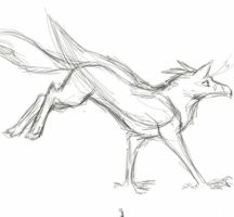 Running Ferr (animation sketch) by Chickenzaur