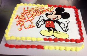 Mickey Mouse Cake by Crosseyed-Cupcake