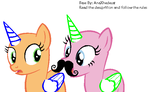 'I can keep my Mustache?' Pony Base #12 by Psycho-CandyAddicted