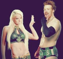 Sheamus and Maryse Graphic 2 by verusImmortalis