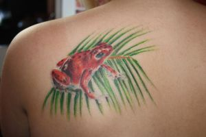 red frog by SimplyTattoo